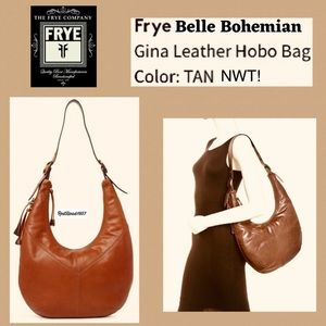 Frye Belle Bohemian Leather Hobo Shoulder Bag!💐 👜 NEW With Tag!